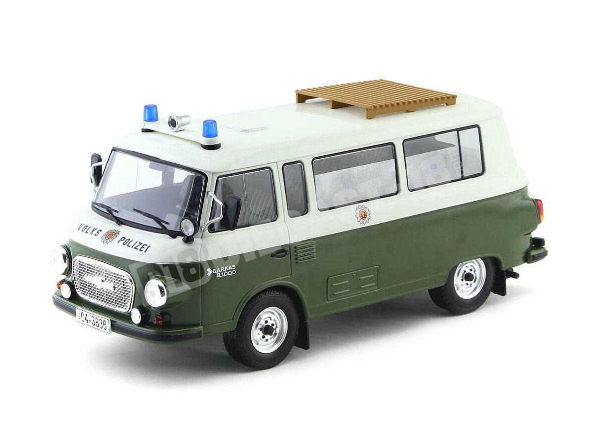 1965 Barkas B 1000 Feurewehr Mini Bus Policía Alemana 1:18 MC Group 18009 Cochesdemetal.es