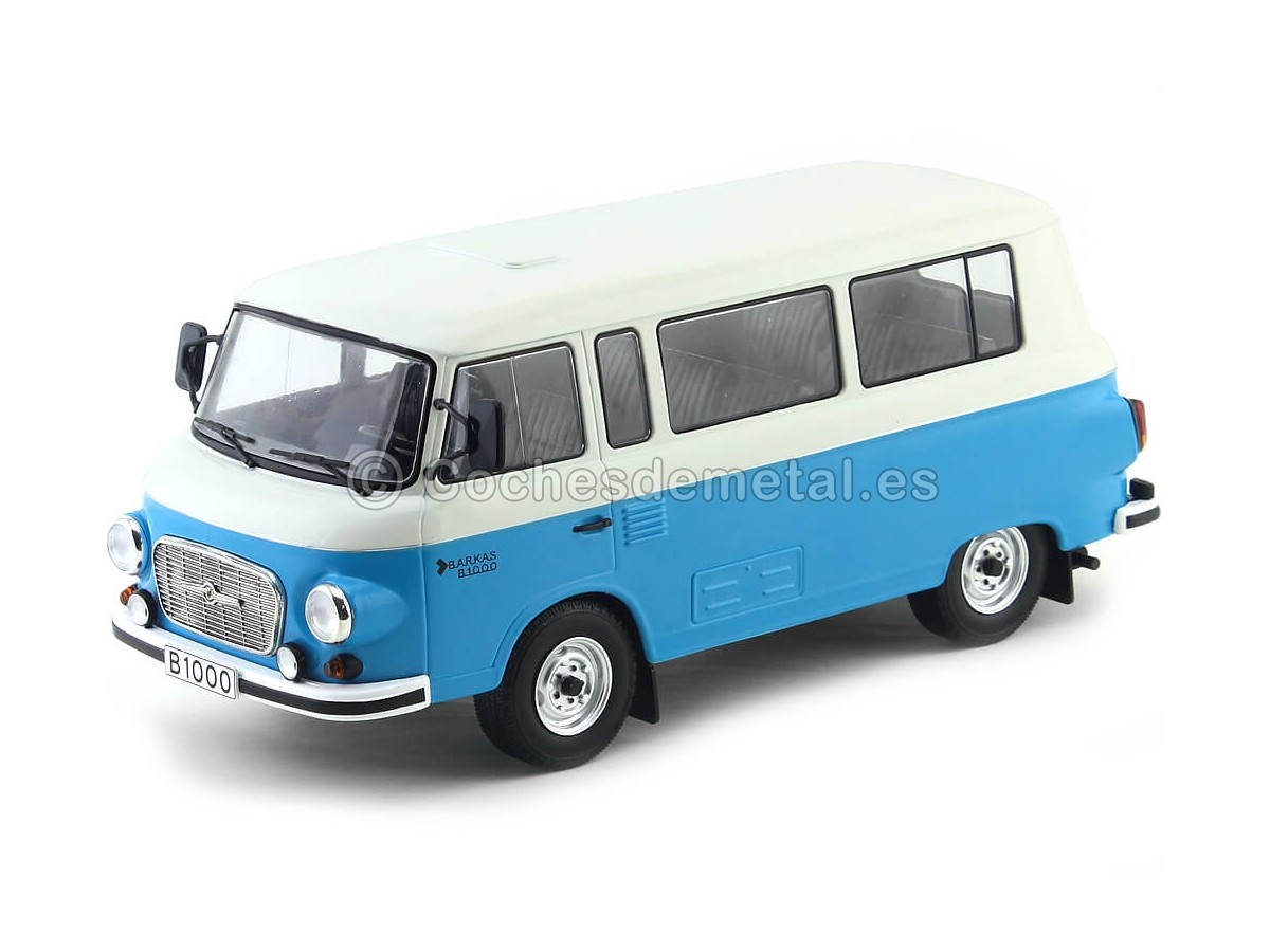 1965 Barkas B 1000 Feurewehr Mini Bus Azul-Blanco MC Group 18007 Cochesdemetal.es