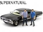 """1967 Chevrolet Impala Sport Sedan """"Supernatural TV Series + 2 figuras"""" 1:18 Greenlight 19021"""