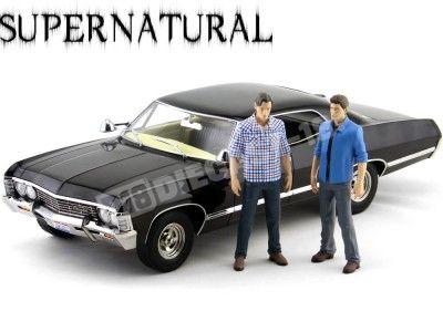 "1967 Chevrolet Impala Sport Sedan ""Supernatural TV Series + 2 figuras"" 1:18 Greenlight 19021 Cochesdemetal.es"