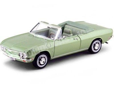 1969 Chevrolet Corvair Monza Convertible Verde 1:18 Lucky Diecast 92498 Cochesdemetal.es