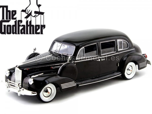 "1941 Packard Super Eight One-Eighty ""El Padrino"" Negro 1:18 Greenlight 12948 Cochesdemetal.es"