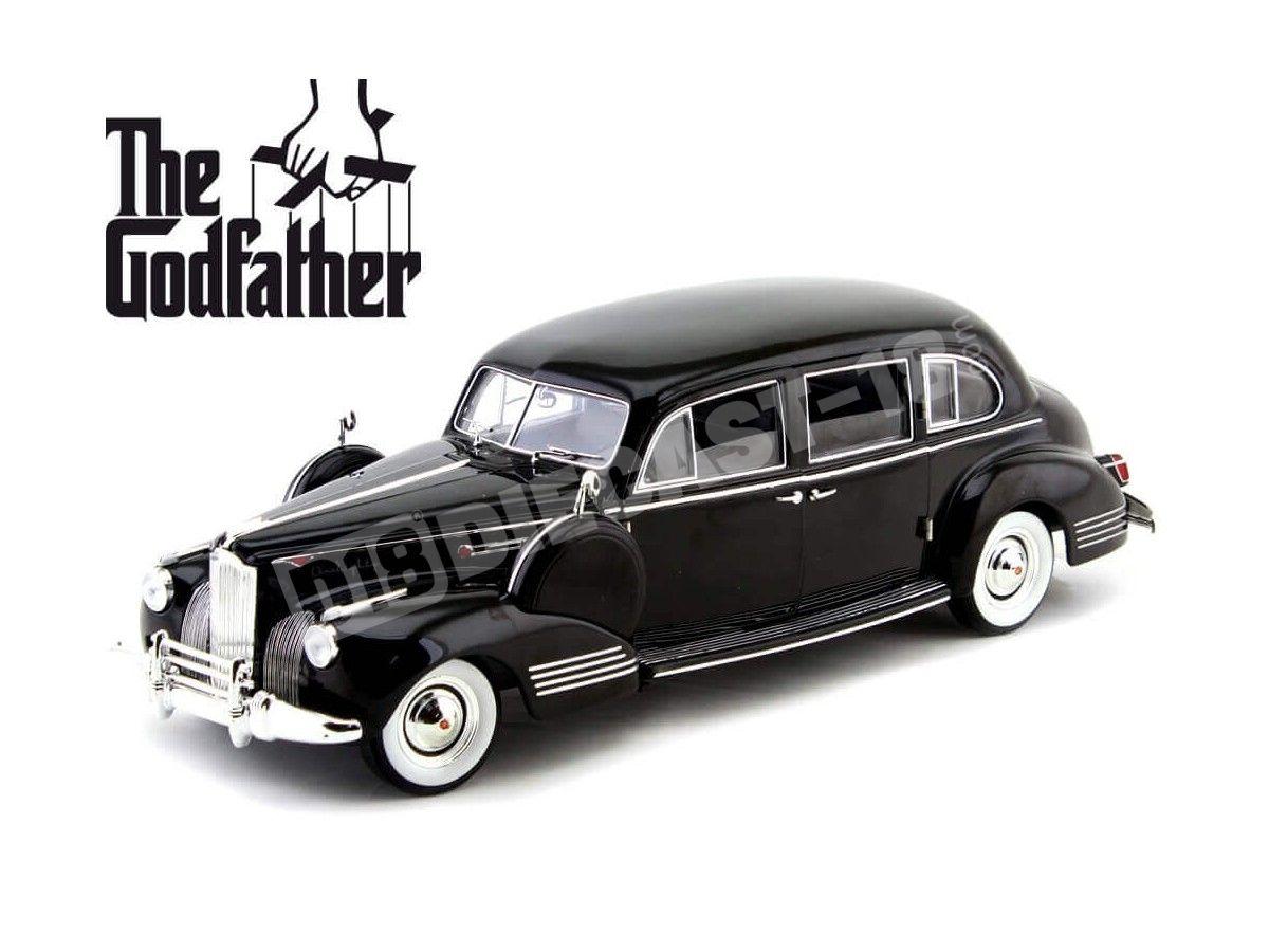 "1941 Packard Super Eight One-Eighty ""El Padrino"" Negro 1:18 Greenlight 12948 Cochesdemetal.es"