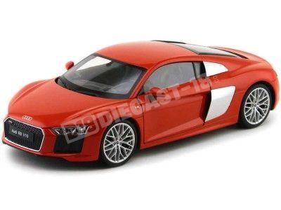 2016 Audi R8 V10 FSI Rojo Metalizado 1:18 Welly 18052 Cochesdemetal.es