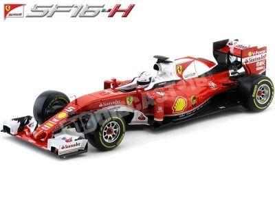 2016 Ferrari SF16-H Sebastian Vettel 1:18 Bburago 16802V Cochesdemetal.es