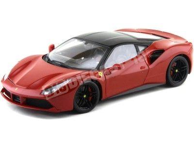 2015 Ferrari 488 GTB Rojo-Negro 1:18 Bburago Signature Series 16905 Cochesdemetal.es