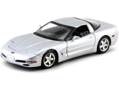 1997 Chevrolet Corvette C5 Gris Metalizado 1:18 Bburago 12038 Cochesdemetal.es