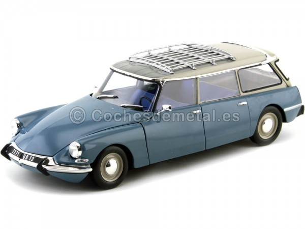 1970 Citroen DS 19 Break Monte Carlo Blue 1:18 Norev 181591 Cochesdemetal.es