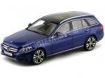 2014 Mercedes-Benz Clase C Estate S205 Brillant Blue Metallic Norev B66960257
