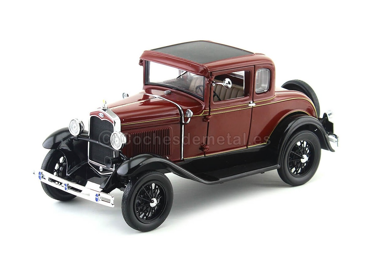 1931 Ford Model A Coupe Rubelite Red 1:18 Sun Star 6131 Cochesdemetal.es