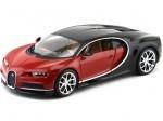 2016 Bugatti Chiron Rojo/Negro Bburago 11040