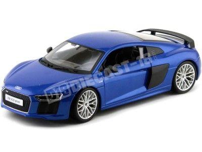 2015 Audi R8 Plus Azul Marino 1:18 Maisto 36213 Cochesdemetal.es