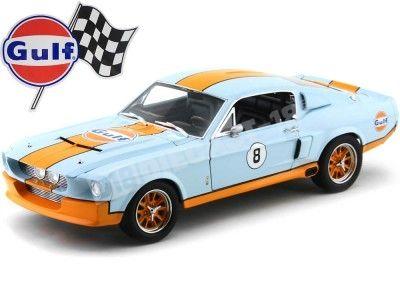 1967 Shelby GT-500 Equipo Gulf Naranja/Azul Greenlight Collectibles 12954