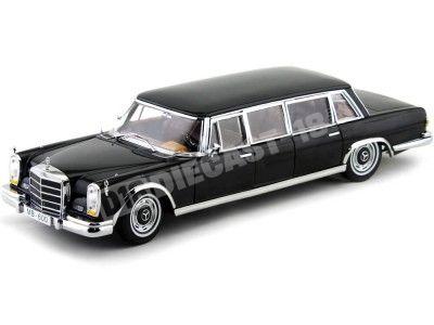 1966 Mercedes-Benz 600 Pullman Negro Metalizado 1:18 Sun Star 2202 Cochesdemetal.es