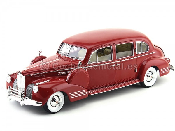 1941 Packard Super Eight One-Eighty Granate 1:18 Greenlight 12971 Cochesdemetal.es
