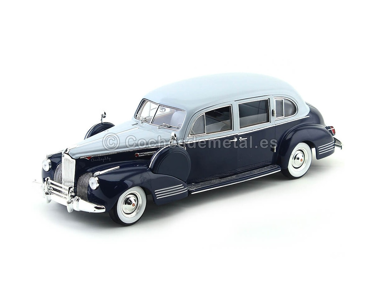 1941 Packard Super Eight One-Eighty GrisAzul 1:18 Greenlight 12970 Cochesdemetal.es
