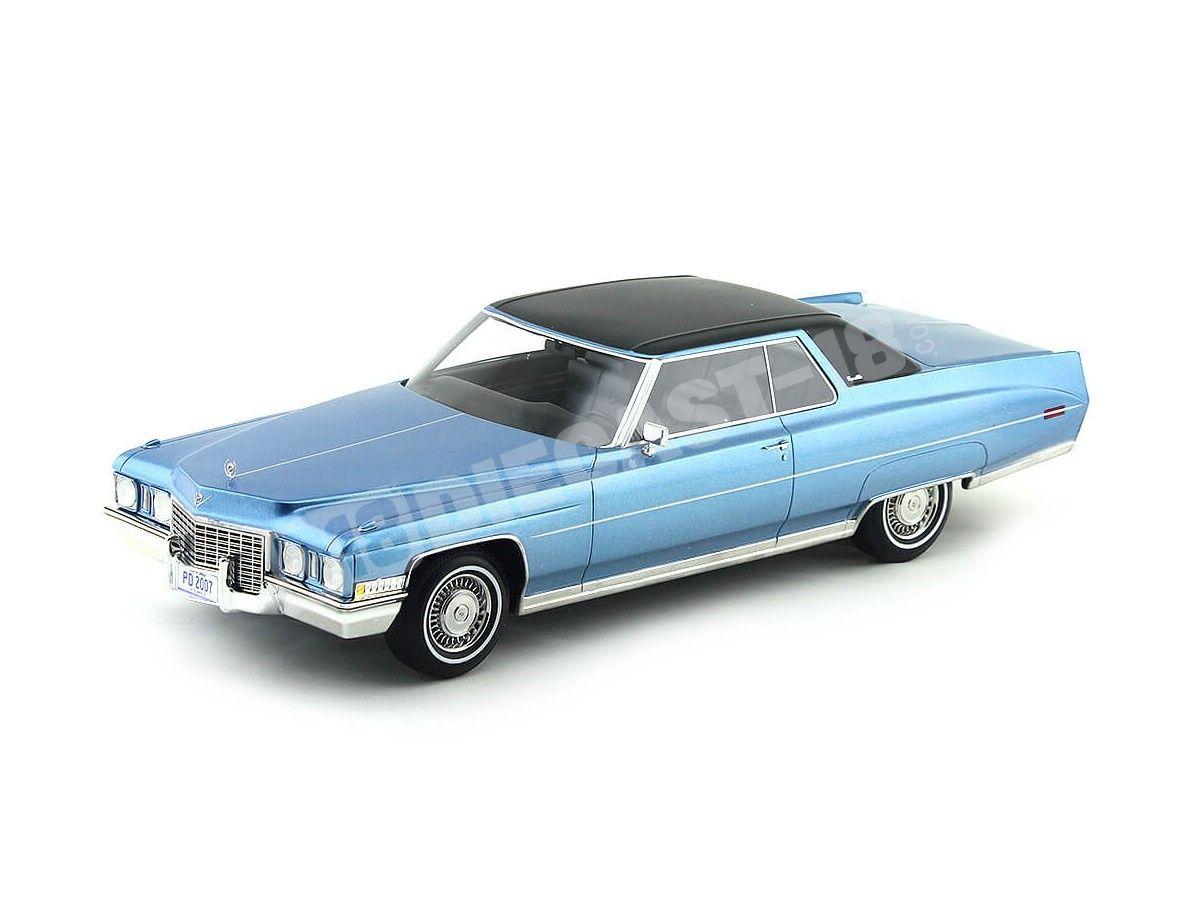 1972 Cadillac Coupe de Ville Azul-Negro 1:18 BoS-Models 139 Cochesdemetal.es