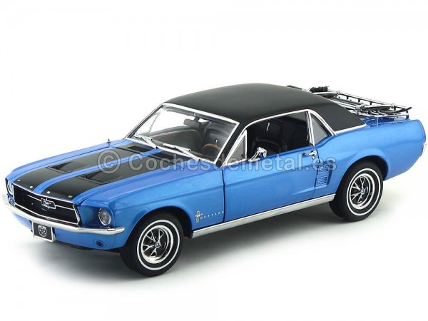 """1967 Ford Mustang """"Ski Country Special"""" Vial Blue Greenlight 12965"""