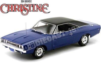 "1968 Dodge Charger ""Christine"" Azul 1:18 Auto World AWSS111 Cochesdemetal.es"