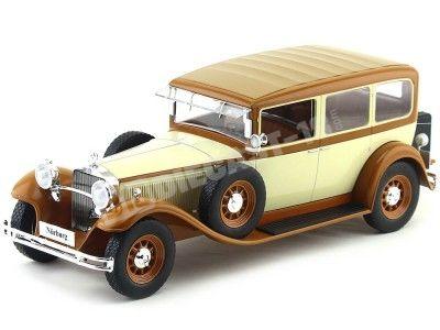 1928 Mercedes-Benz 460K Type Nurburg (W08) Papamóvil Beige-Marron 1:18 MC Group 18034 Cochesdemetal.es