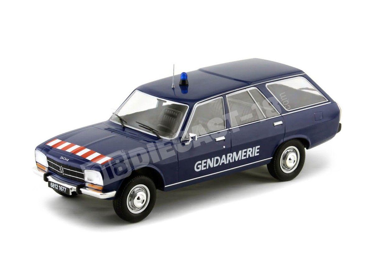"1976 Peugeot 504 Break ""Gendarmerie"" Azul 1:18 MC Group 18036 Cochesdemetal.es"