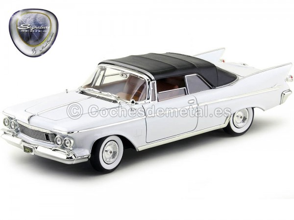 1961 Chrysler Imperial Crown Convertible Blanco 1:18 Lucky Diecast 20138 Cochesdemetal.es