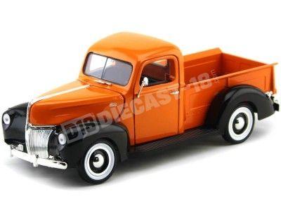 1940 Ford Pickup Truck Naranja-Negro 1:18 Motor Max 73170 Cochesdemetal.es