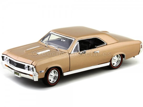 1967 Chevrolet Chevelle SS 396 Metallic Gold 1:18 Motor Max 73104 Cochesdemetal.es