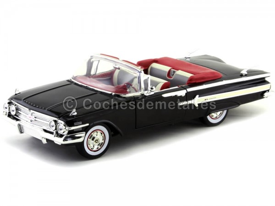 1960 Chevrolet Impala Convertible Negro 1:18 Motor MAX 73110 Cochesdemetal.es