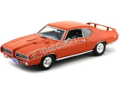 1969 Pontiac GTO Judge Naranja 1:18 Motor Max 73133 Cochesdemetal.es