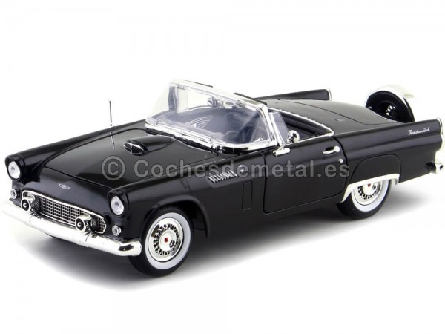 1956 Ford Thunderbird Convertible Negro 1:18 Motor Max 73173 Cochesdemetal.es