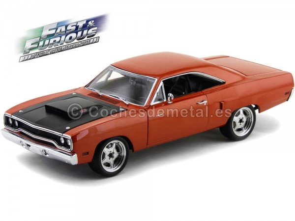 "1970 Plymouth Road Runner ""Fast and Furious 7"" Copper 1:18 Acme GMP 18807 Cochesdemetal.es"