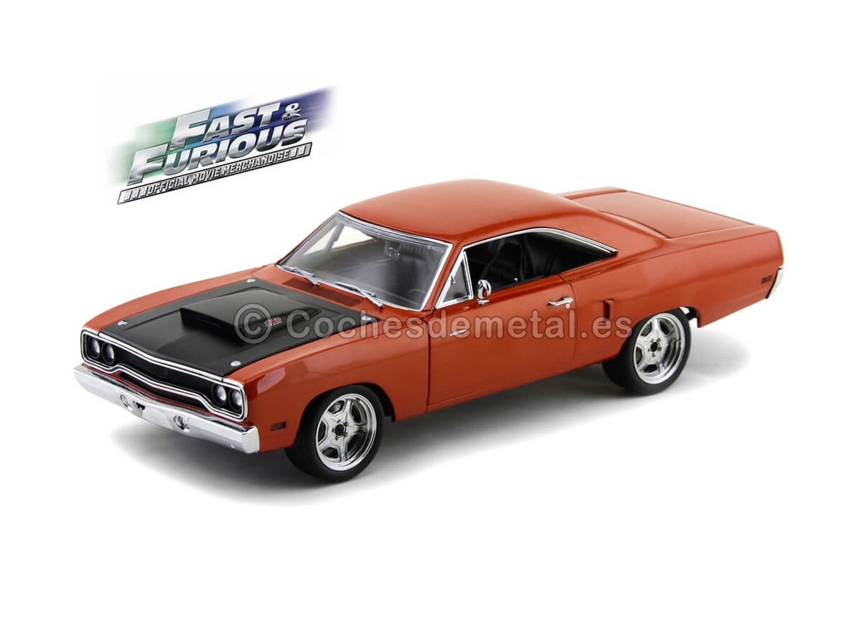 """1970 Plymouth Road Runner """"Fast and Furious 7"""" Copper 1:18 Acme GMP 18807 Cochesdemetal.es"""