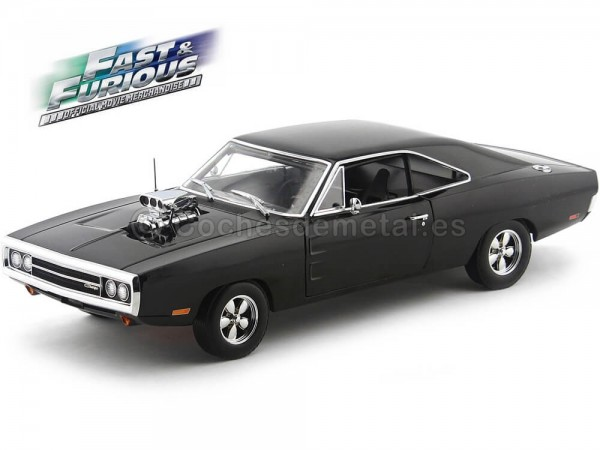 "1970 Doms Dodge Charger ""Fast and Furious"" Negro Greenlight Collectibles 19027 Cochesdemetal.es"