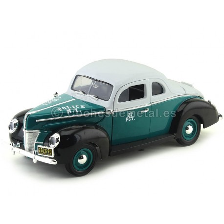 1940 Ford Deluxe Cupe Police NYPD 1:18 Greenlight 12972 Cochesdemetal.es