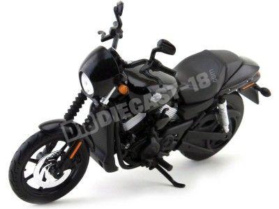 2015 Harley-Davidson Street 750 Negra 1:12 Maisto 32333 HD10 Cochesdemetal.es