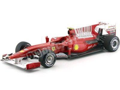 "2010 Ferrari F10 Fernando Alonso ""Winner Baharain GP"" 1:18 Hot Wheels Elite T6257 Cochesdemetal.es"