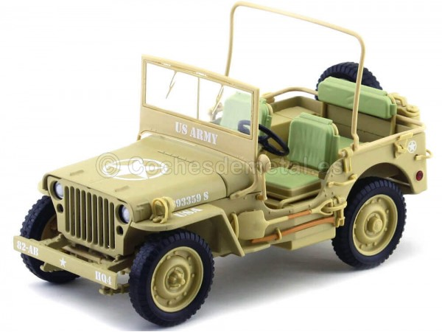 1943 Jeep Willys Casablanca Arena del Desierto 1:18 Triple-9 1800140 Cochesdemetal.es
