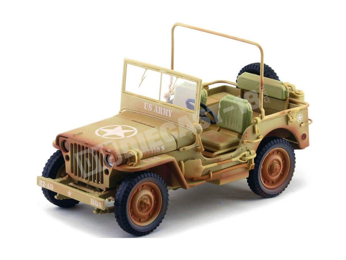 1943 Jeep Willys Casablanca Arena del Desierto Sucio 1:18 Triple-9 1800140A Cochesdemetal.es