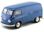 1963 Volkswagen T1 Microbus Panel Van Azul 1:18 Welly 18053