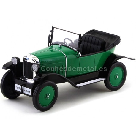 1922 Opel 4 PS Laubfrosch Verde 1:18 MC Group 18050 Cochesdemetal.es