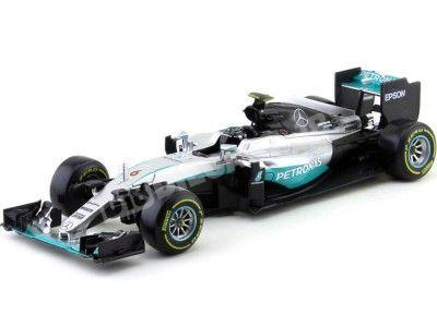 """2016 Mercedes AMG W07 Hybrid """"Nico Rosberg"""" 1:18 Bburago 18001R Cochesdemetal.es"""