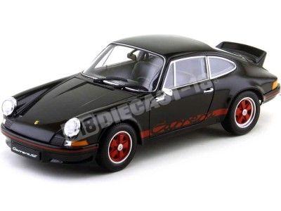 1973 Porsche 911 Carrera RS Negro-Rojo 1:18 Welly 18044 Cochesdemetal.es
