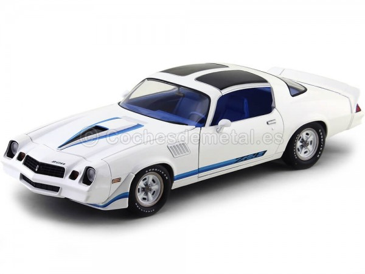 1979 Chevrolet Camaro Z28 Blanco-Azul 1:18 Greenlight 12903 Cochesdemetal.es