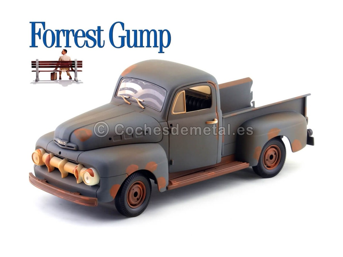 "1951 Ford F1 Pickup Truck ""Forrest Gump"" 1:18 Greenlight Collectibles 12968 Cochesdemetal.es"