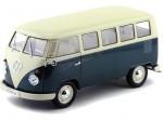 1963 Volkswagen T1 Classical Microbus Verde-Blanco 1:18 Welly 18054
