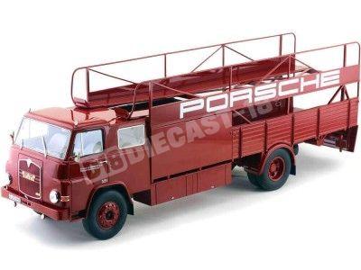 1965 MAN 635 Renntransporter Porsche Rojo 1:18 Schuco 450008100 Cochesdemetal.es