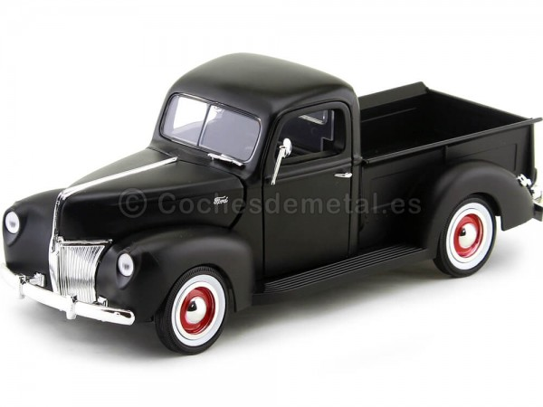 1940 Ford Pickup Truck Negro Mate 1:18 Motor Max 73170 Cochesdemetal.es