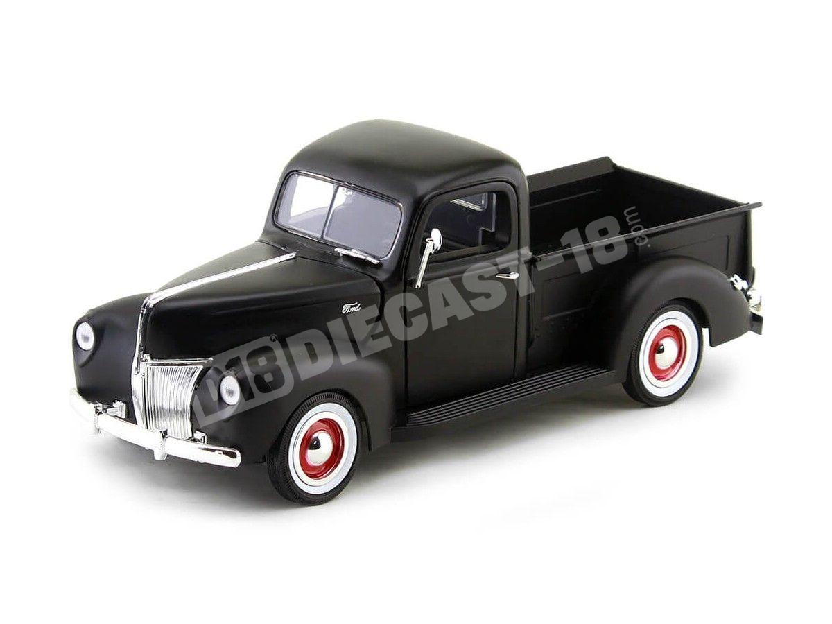 1940 Ford Pickup Truck Negro Mate 1:18 Motor Max 73170 Cochesdemetal.es