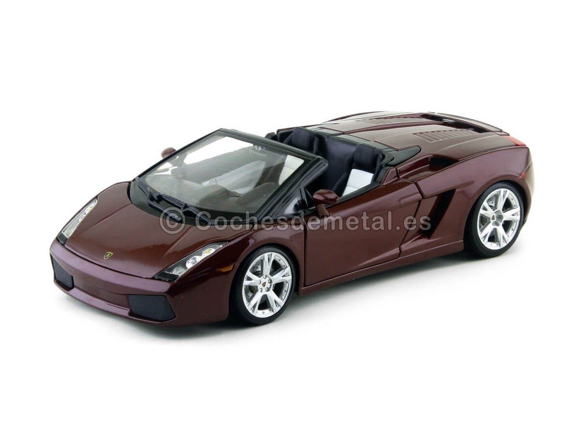 2000 Lamborghini Gallardo Spyder Granate Metalizado 1:18 Maisto 31136 Cochesdemetal.es